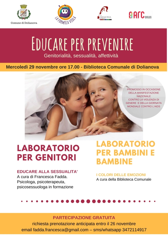 Locandina Educare per prevenire